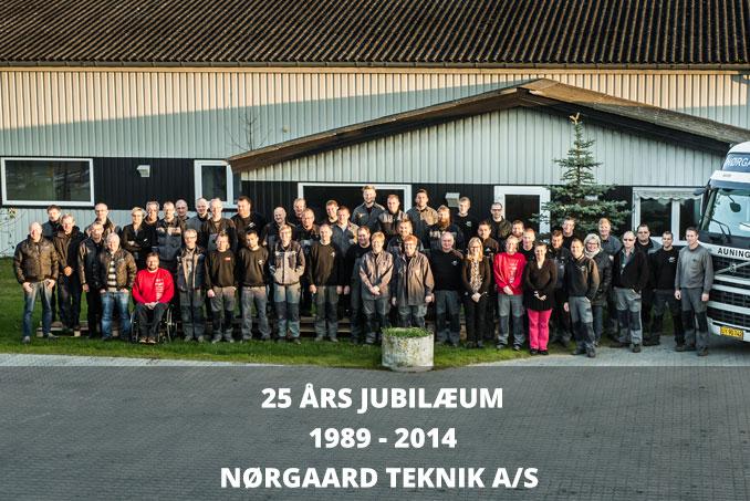 Nørgaard Teknik fejrer 25 års jubilæum med personalet
